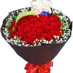 甜蜜情緣-33朵紅玫瑰花束