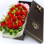 远方的思念-19朵红色康乃馨礼盒