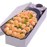溫柔的愛--33枝香檳玫瑰禮盒