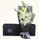 幸福約定-5枝多頭白百合禮盒