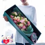 韓式混搭-19朵混搭玫瑰禮盒