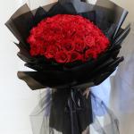 為愛獻禮-99朵紅玫瑰鮮花花束