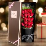 爱在心头-19朵红玫瑰礼盒