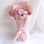 诗意情怀-11朵粉雪山玫瑰花束