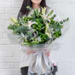 子鼠-生肖鮮花-白百合鮮花花束