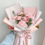 情意滿滿-11枝粉色康乃馨鮮花花束