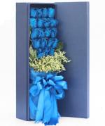 情有?#20048;?19枝蓝玫瑰礼盒