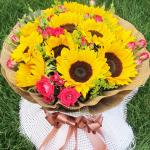 十分幸福-9朵向日葵花束