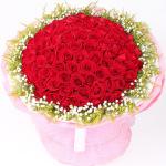 我爱你-99朵红玫瑰花束