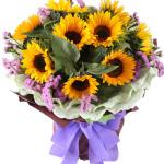 希望你快乐-9朵向日葵花束