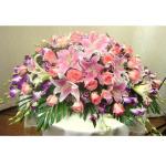 商務桌花-百合玫瑰洋蘭