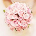 新娘手捧花-33朵粉玫瑰