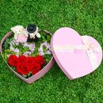 我爱你-6朵玫瑰心形礼盒