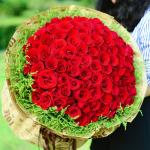 何以笙簫默-99朵紅玫瑰花束