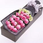 夏日简爱-19朵粉玫瑰礼盒
