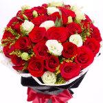 陷入爱河-33朵红玫瑰花束