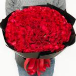 摯愛女神-99朵紅玫瑰花束