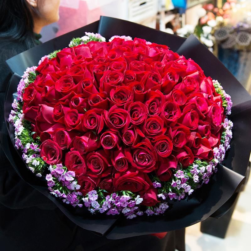 真爱无敌 99朵红玫瑰花束