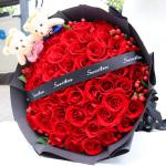 甜甜蜜蜜-33朵红玫瑰花束