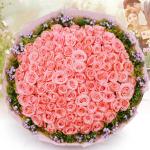 甜蜜期待-99朵戴安娜深粉玫瑰