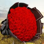 浓情蜜意-99朵红玫瑰花束