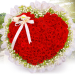 含情脉脉-99朵红玫瑰