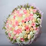 春花秋月-66朵混搭玫瑰
