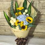幸福花兒-19朵向日葵百玫瑰混搭