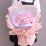 粉色佳人-33朵粉玫瑰