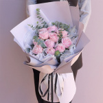 粉裝玉豚-11朵粉玫瑰