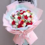 絢麗多彩-33朵混搭玫瑰