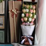 幸福愛戀-19朵混搭玫瑰禮盒