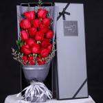 爱你的心不变-19朵红玫瑰礼盒