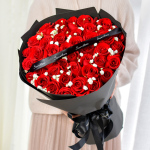 一往情深-33朵红玫瑰花束