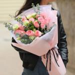 心动时刻-19朵粉佳人玫瑰花束