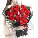 女神之约-33朵红玫瑰鲜花花束