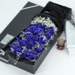 妖艳迷人-19朵蓝色玫瑰蓝色妖姬鲜花礼盒