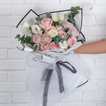 亲爱的热爱的-11朵粉玫瑰鲜花花束