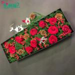 圣誕節禮物紅玫瑰鮮花禮盒