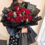 姹紫嫣红-11枝红玫瑰花束