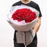 许你一生-52朵红玫瑰花束