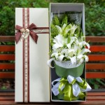 芳香四溢-11朵白百合礼盒