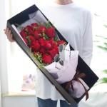 情意绵绵-19枝红玫瑰礼盒