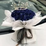 永恒的愛-33朵藍色妖姬花束(送皇冠)