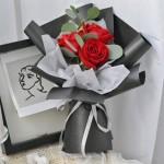 团购小花束-3朵红玫瑰花束