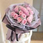初戀-19枝粉玫瑰花束