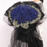 恒久誓言-99朵蓝玫瑰花束