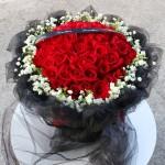 炙热-33朵红玫瑰花束