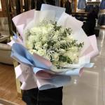 爱你如初-33朵白玫瑰花束