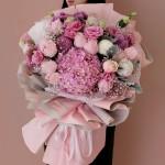 专属温柔-粉红雪山韩式花束